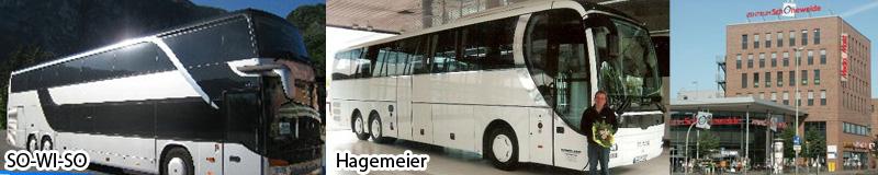 Berliner Nazi-Busse für Dresden: So-Wi-So Reisen und Hagemeier Reisen