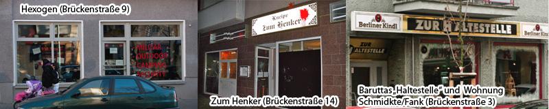 Zum Henker, Hexogen und Brückenstraße 3 (Haltestelle und Schmidkte / Fank)
